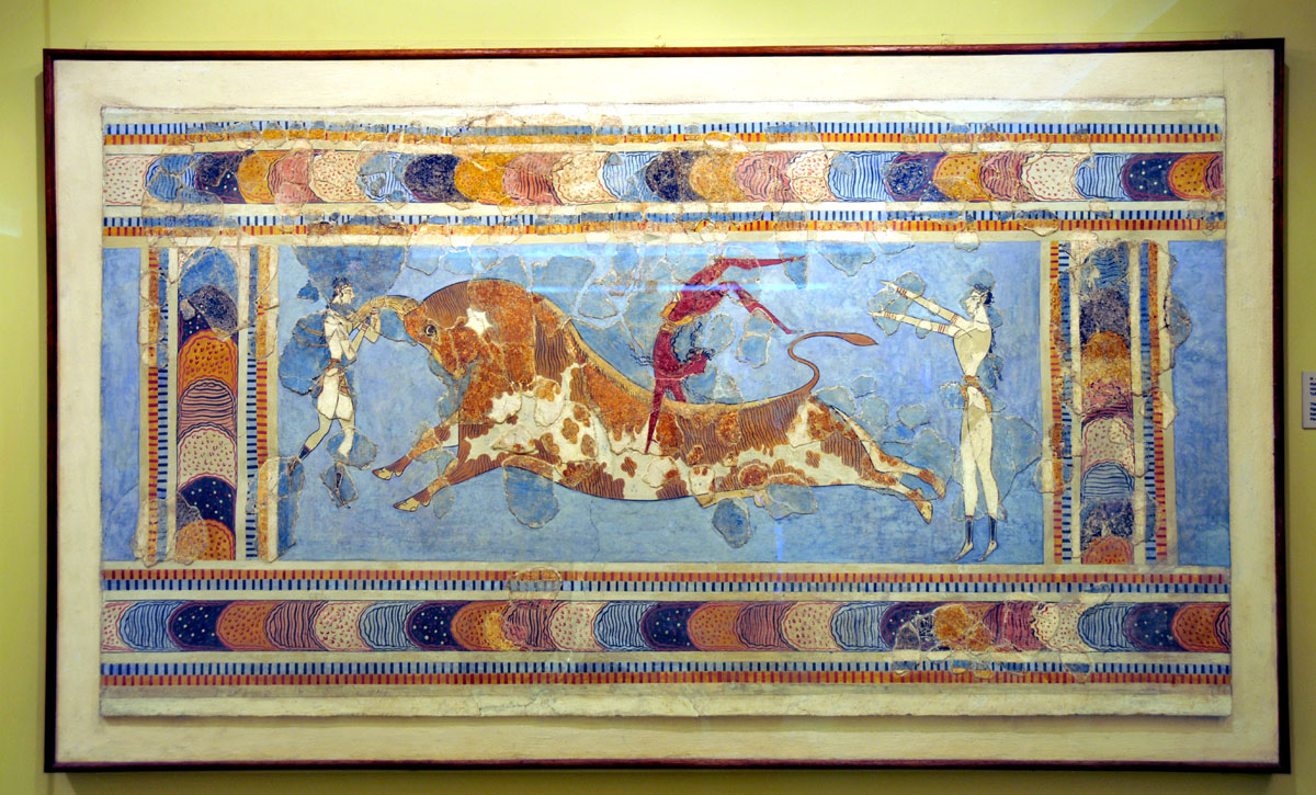 City of iraklion crete for Ancient greek mural